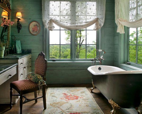 romantisches bad - sehr schöne wandverkleidung | Bath and wellness ...