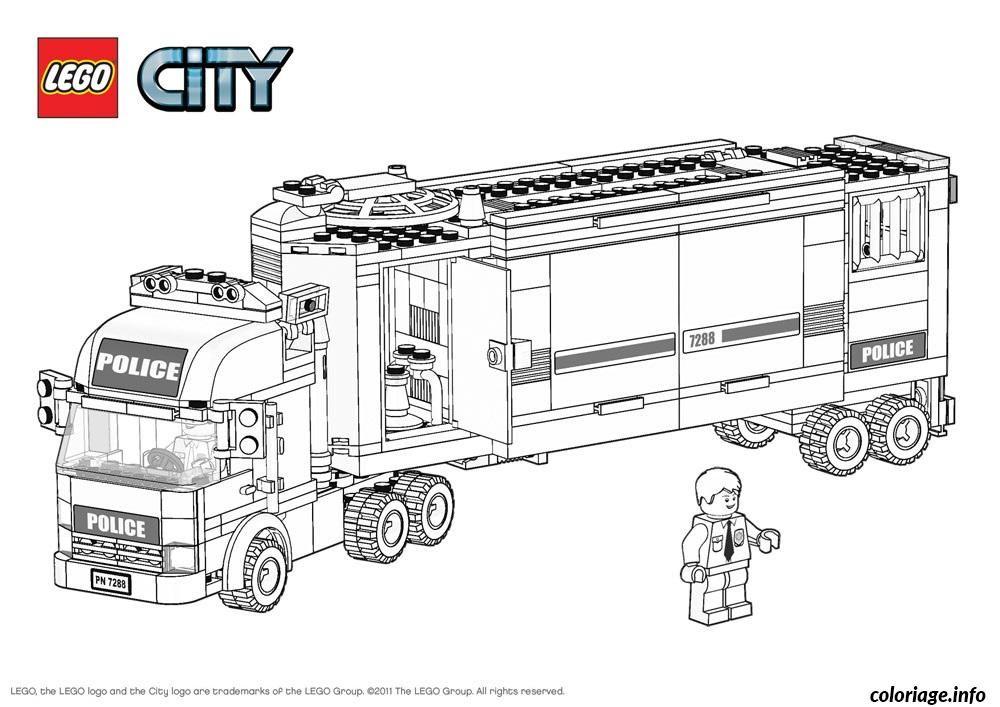Increíble La Policía De La Ciudad De Lego Para Colorear Imagen ...