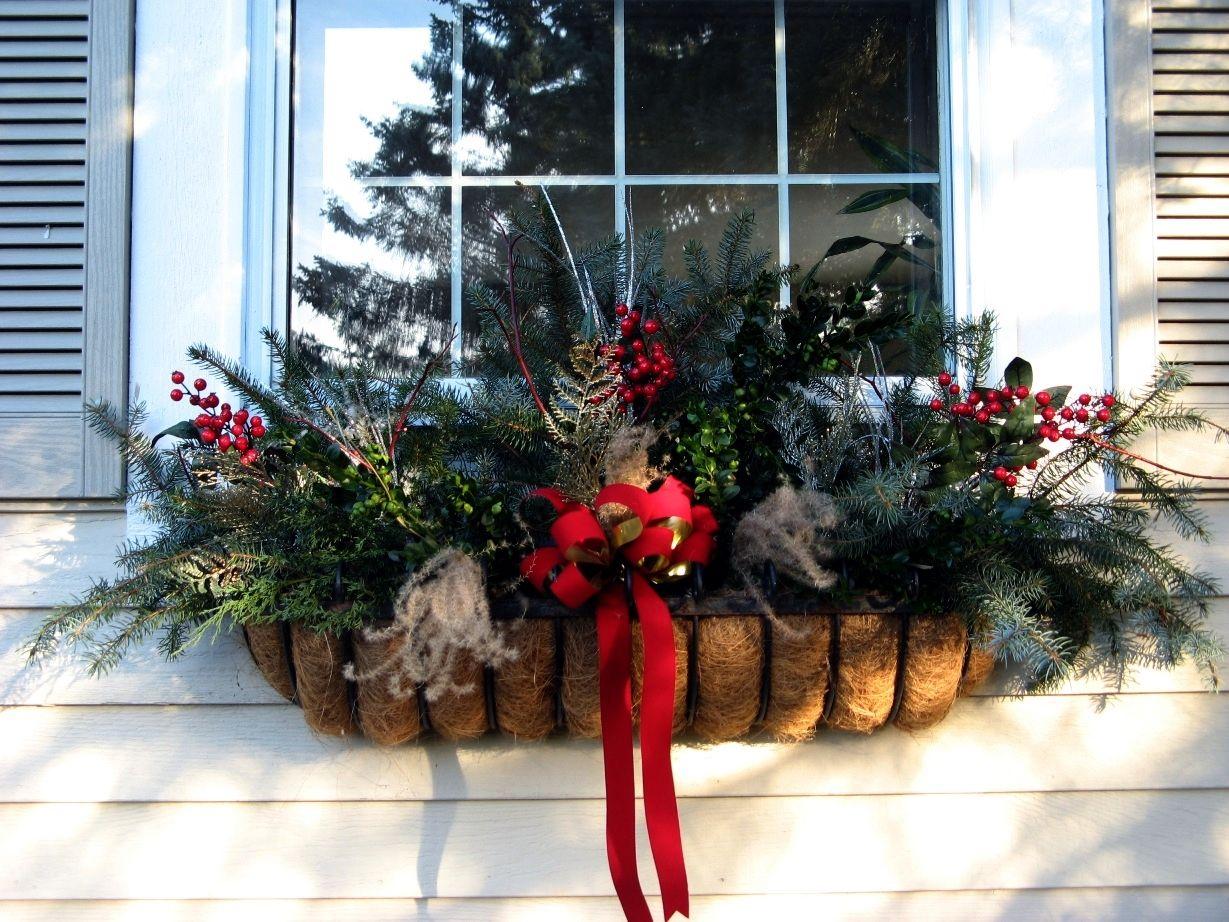 Christmas window box. | Winter Pots | Pinterest | More ...