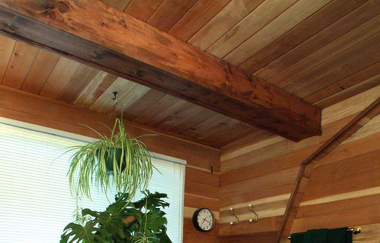 Faux Log Cabin Interior Walls Log Home Interiors Log
