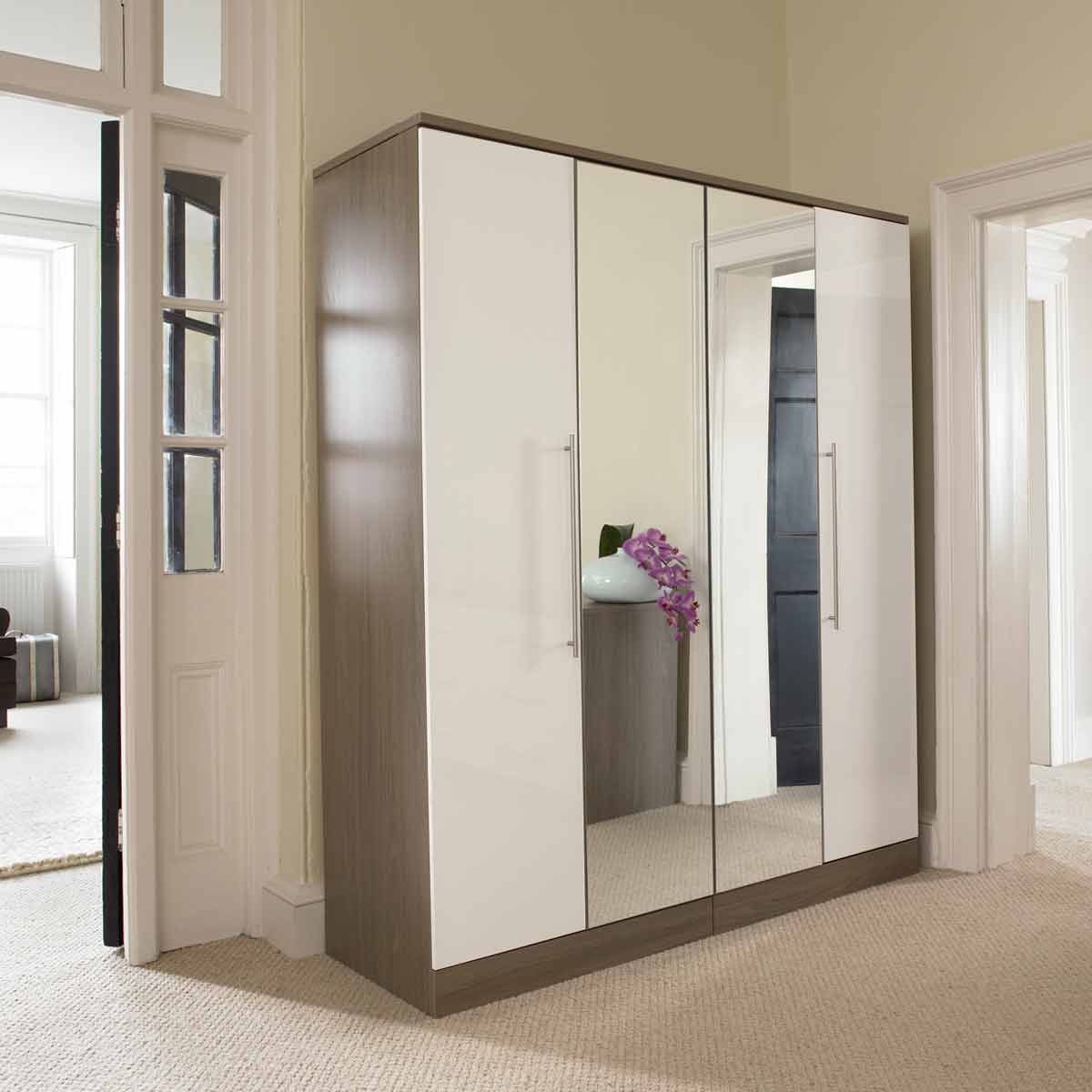 High Quality White Gloss Wardrobe With Mirror   Google Search