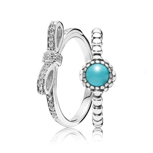 1c58a614d PANDORA - Decadent December Birthstone Ring Stack UK Sale | Pandora ...