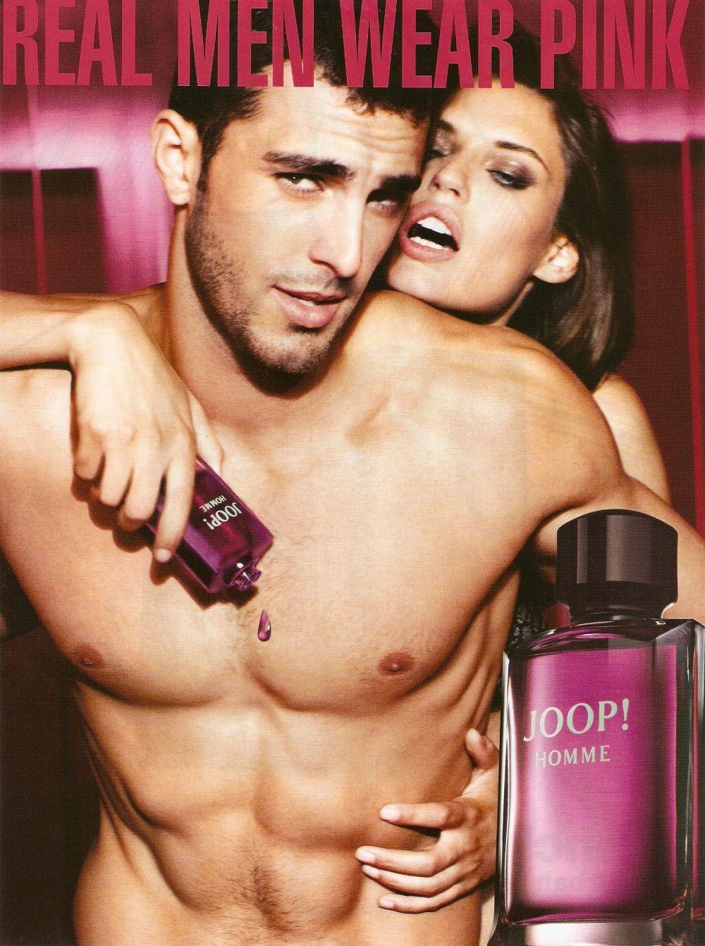 real men wear pink Perfume adverts, Joop perfume