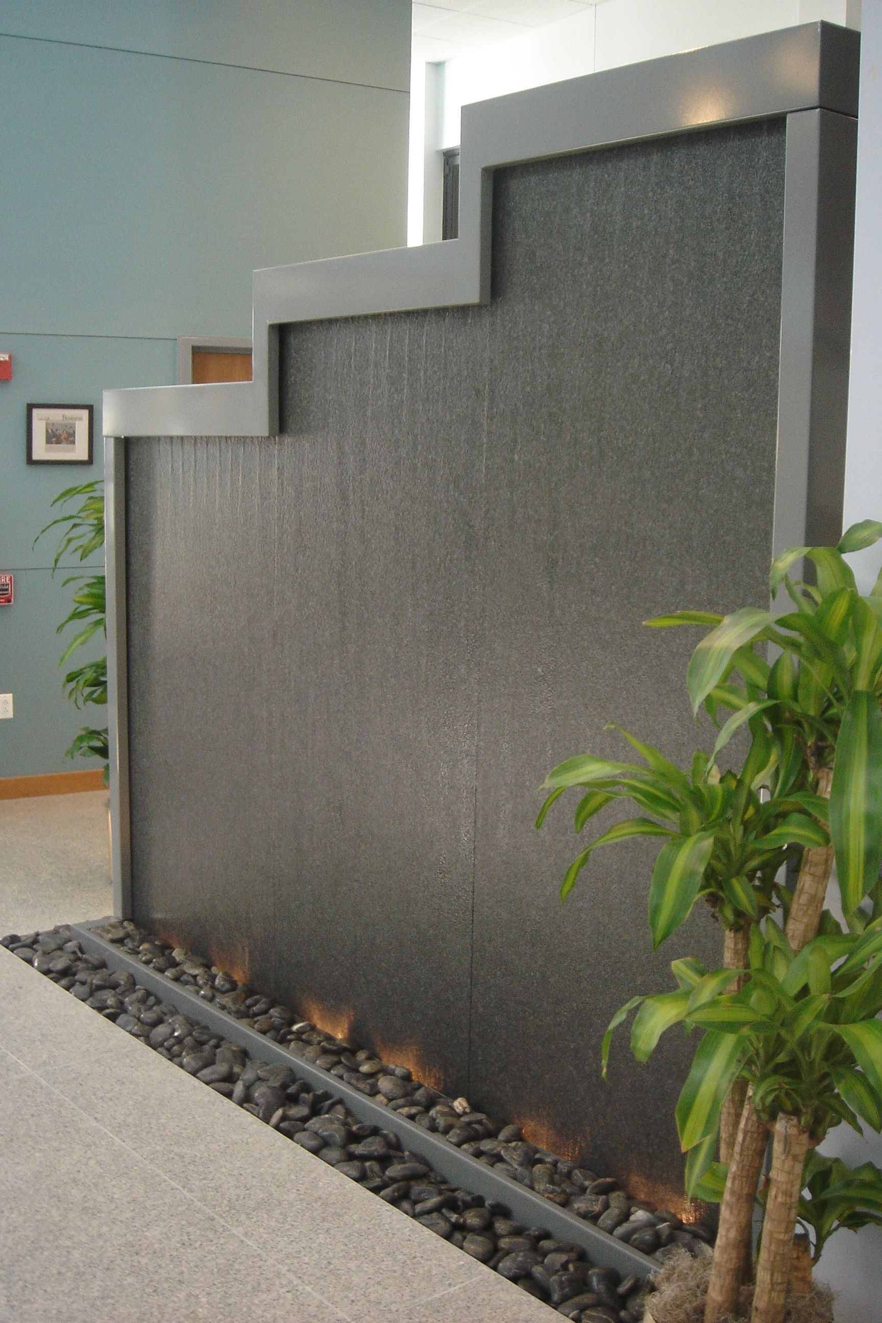 Custom Granite Water Feature by Bluworld