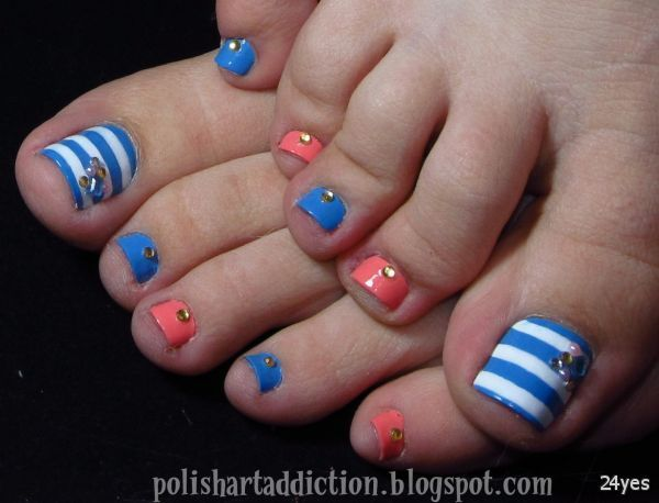 The application of color on Cute Summer Toe Nail Art 2014-2015 | Daily  Photos - The Application Of Color On Cute Summer Toe Nail Art 2014-2015