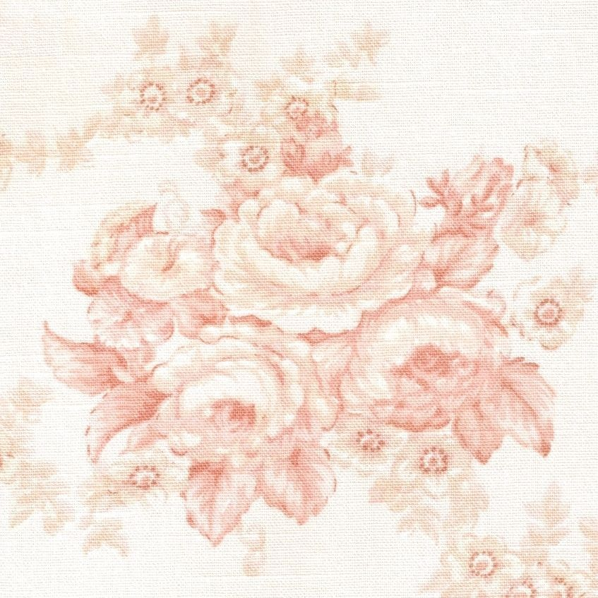 Vtg Laura Ashley Fabric Shabby Chic Pink Roses English Country Upholstery LauraAshley