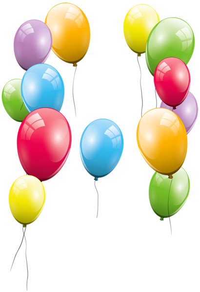 Large Transparent Balloons Clipart Picture Birthday