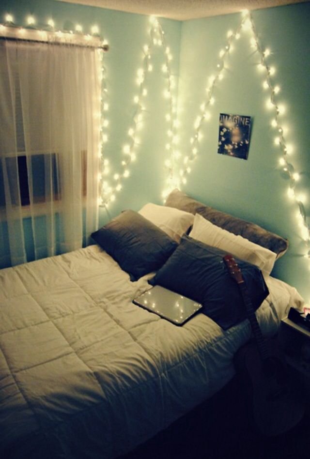 #hipster #bedroom | Tumblr bedrooms | Pinterest | Light ...
