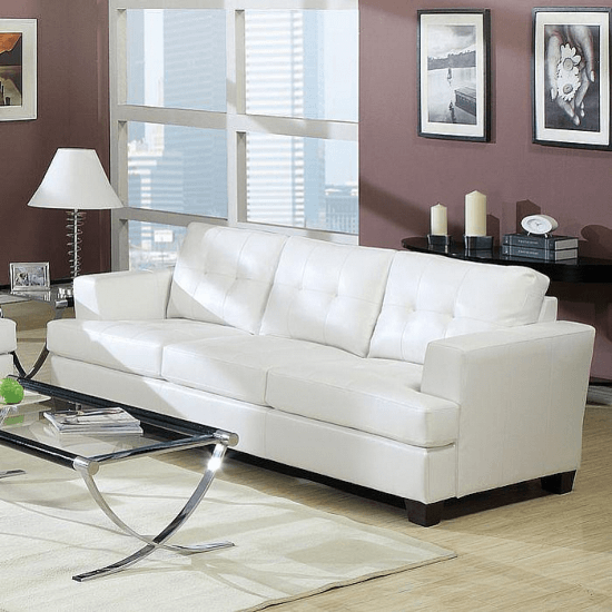 Platinum Sofa In White Sofas By Acme Furniture Ideas For Sofas In 2018 Need A Home Furnit White Leather Sofas
