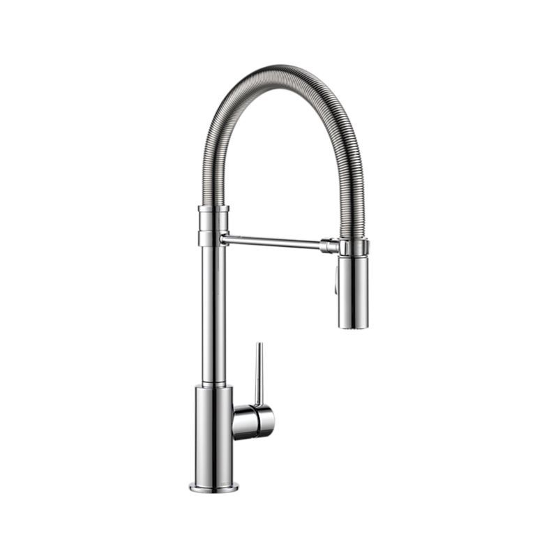 9659-DST Trinsic Pro Single Handle Pull-Down Kitchen Faucet With ...