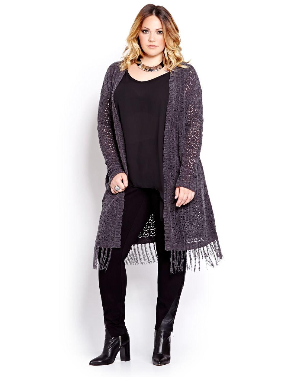 Trendy duster cardigan by Love & Legend combines the crochet craze ...