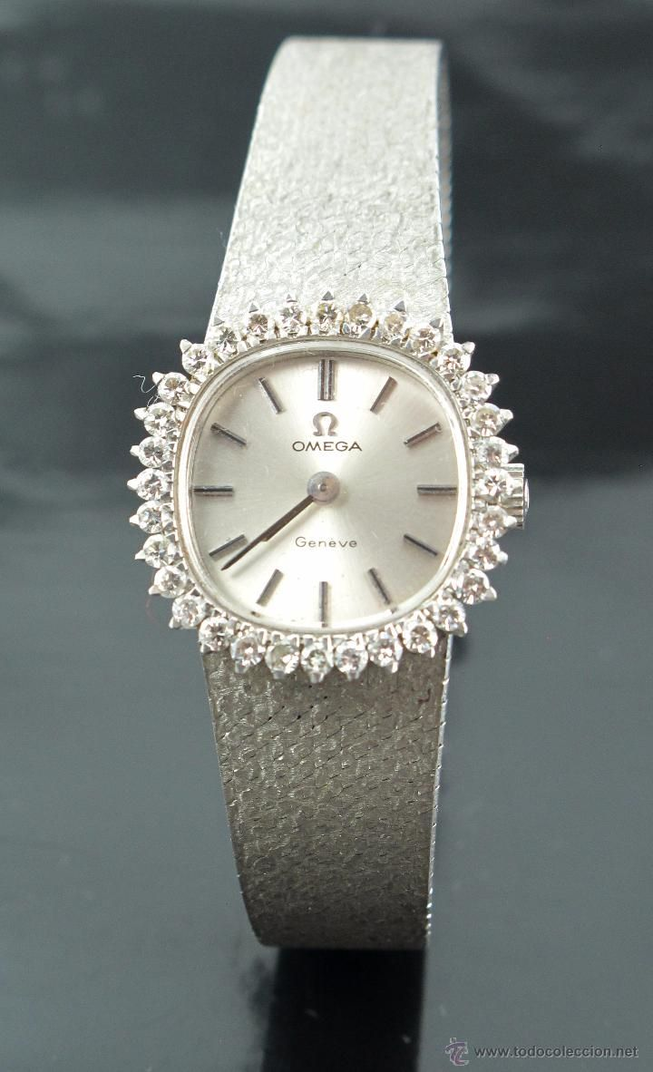 Reloj Joya Omega Oro Blanco 18k Y 32diamantes Coleccion