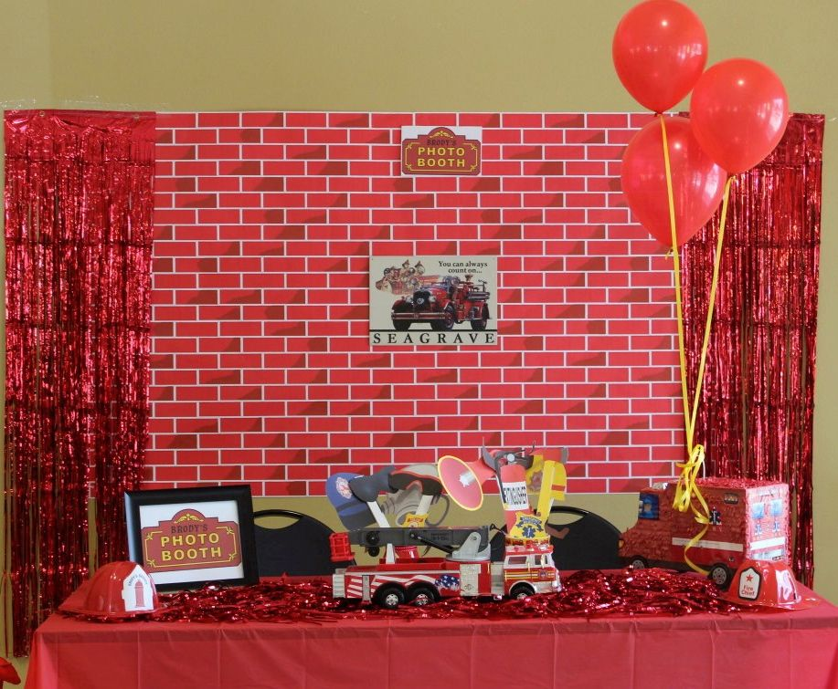 Firetruck Party Photo Booth