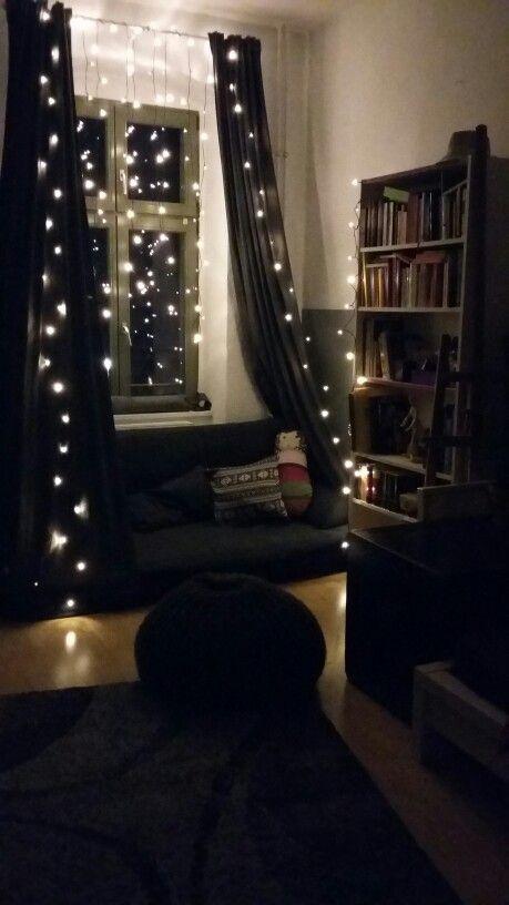 String lights home decor pinterest lights bedrooms for Bedroom ideas emo