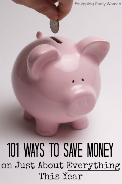 Need to cut back, save more, live better? These 101 money saving tips will show you how!