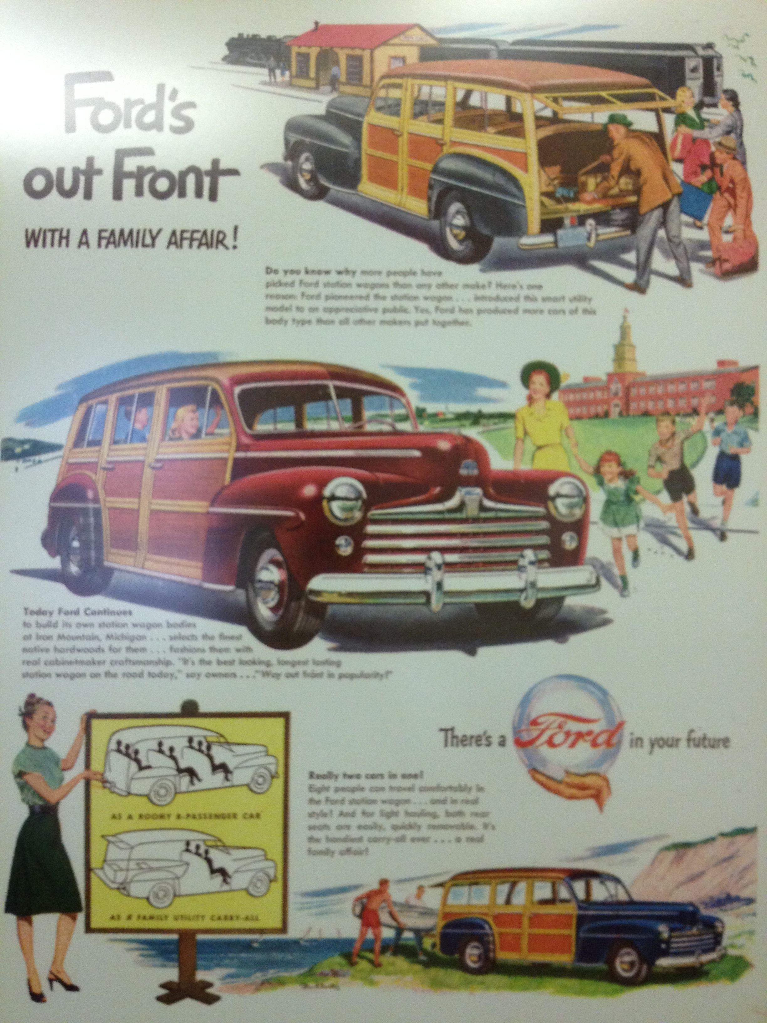 1947 Ford Station Wagon   Vintage Automotive Ads   Pinterest ...