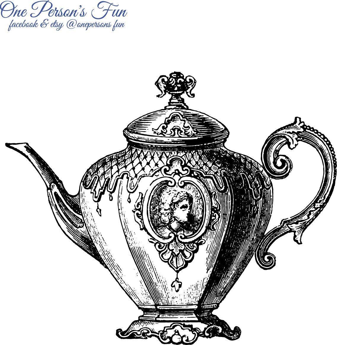 Vintage Teapot 2 Transparent