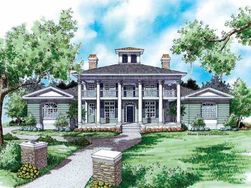 Classical Style House Plan 4 Beds 4 Baths 3911 Sq Ft Plan 930 94 Farmhouse Plans Cottage House Plans Country House Plans