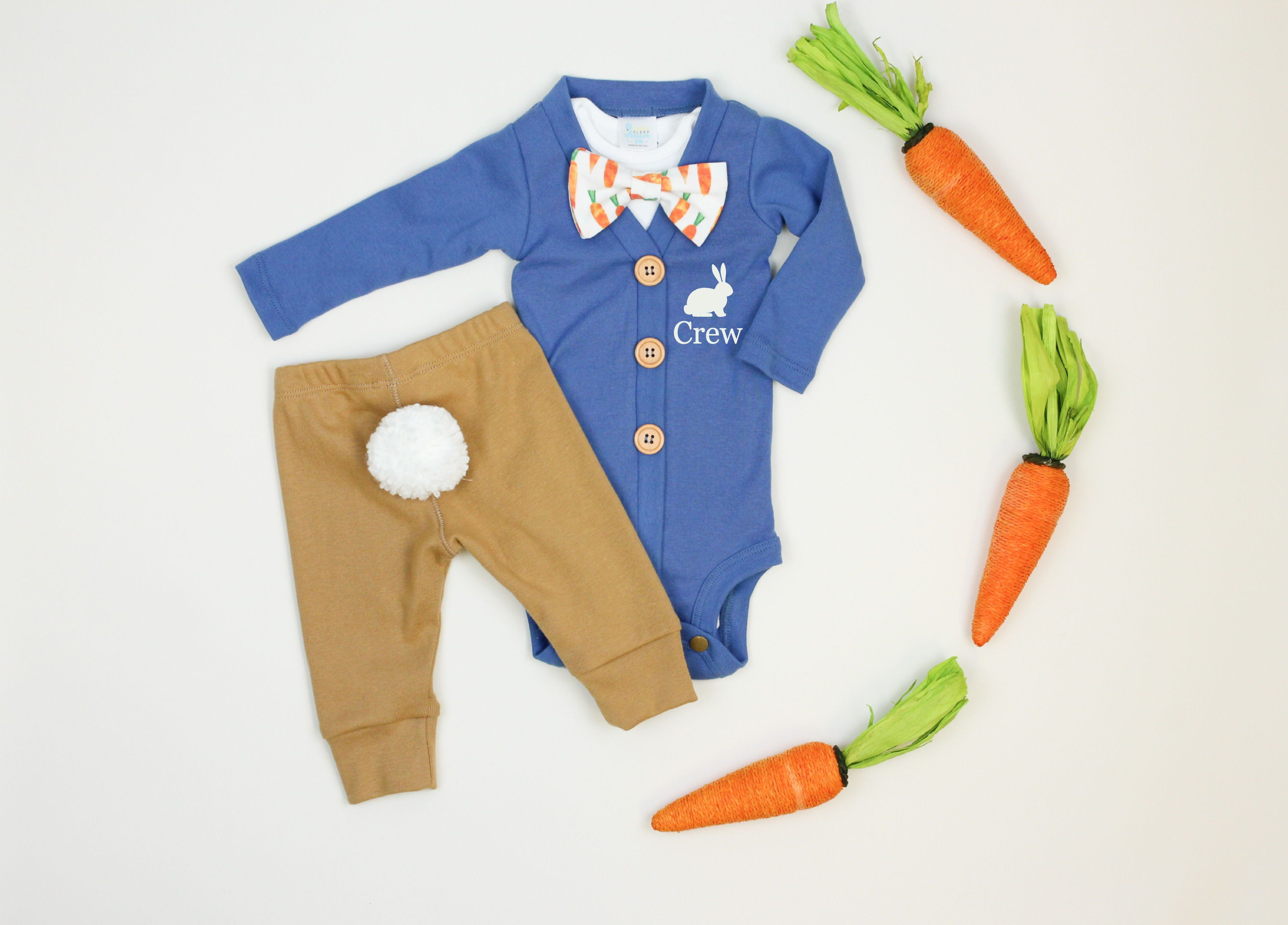 6e140d7f4bea2f Personalized Peter Rabbit cardigan onesie + bunny tail pants, baby boy  easter outfit, bow tie, carrots, blue, handmade