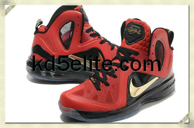 43ceb607b4e Nike P.S Lebron 9 Elite Finals Away PE Red Black Gold 516958 101 ...