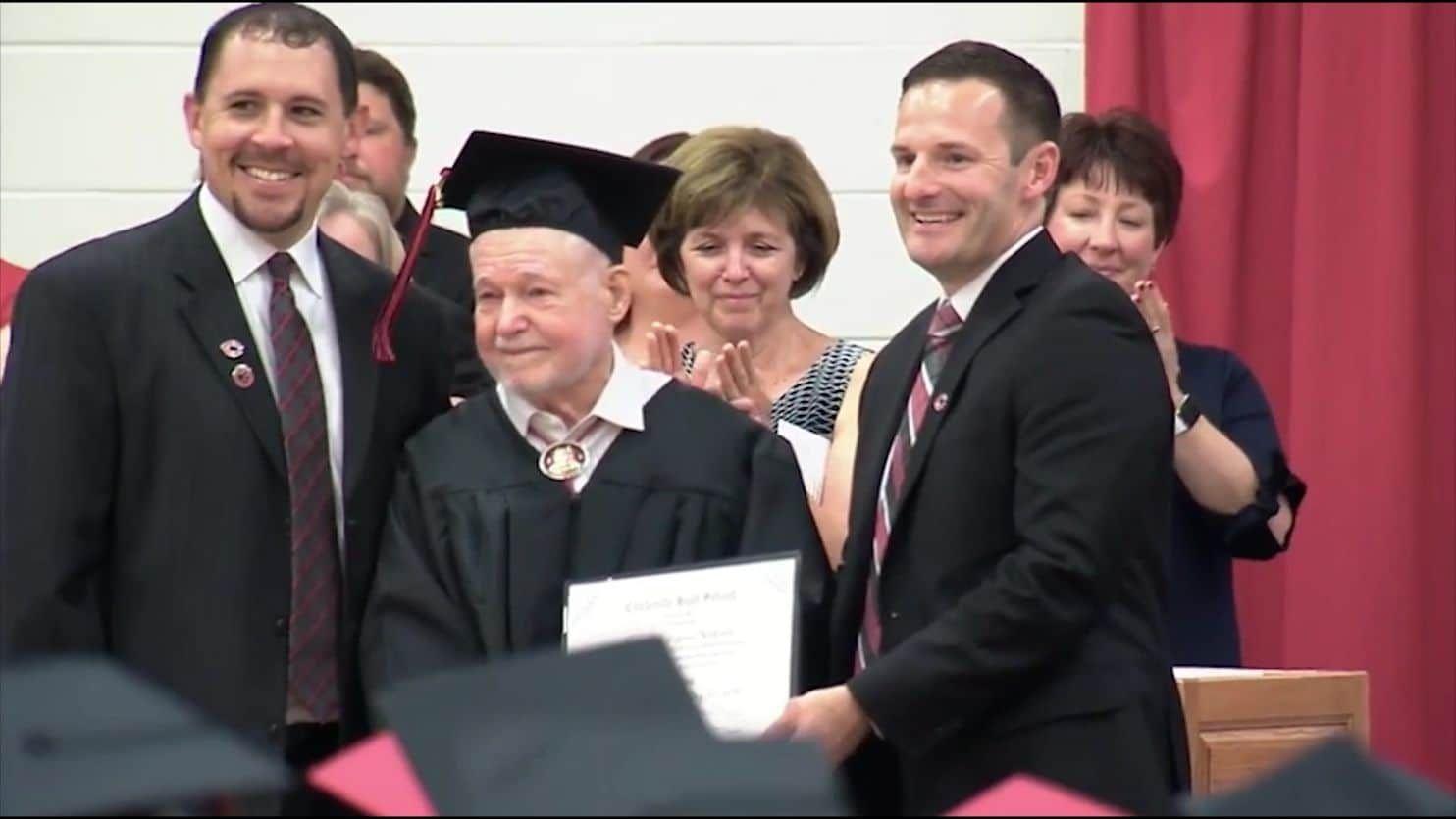 93 Year Old World War Ii Vet Finally Gets High School