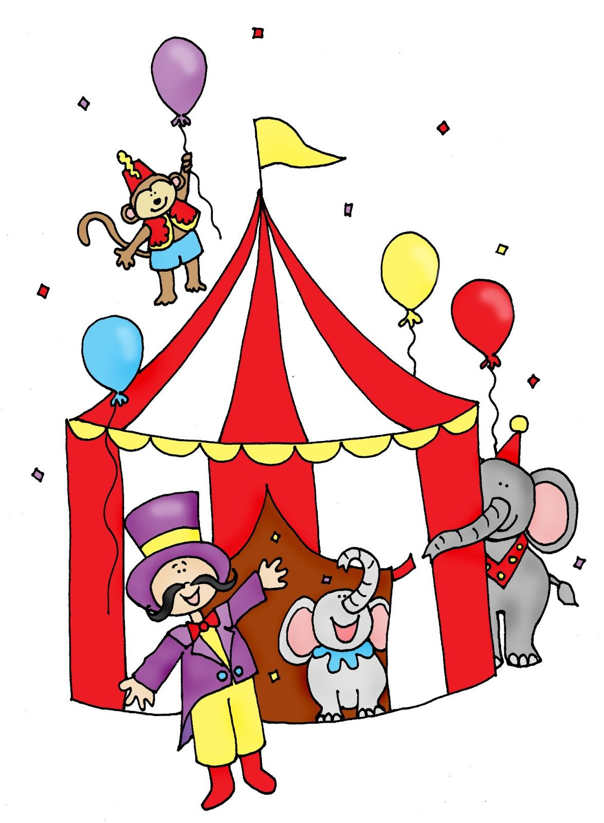 Free Dearie Dolls Digi Stamps: Big Top Circus color and B/W | Circus ...