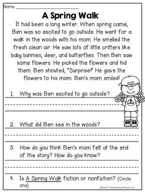 Spring Fling Writing & Literacy Activities Reading