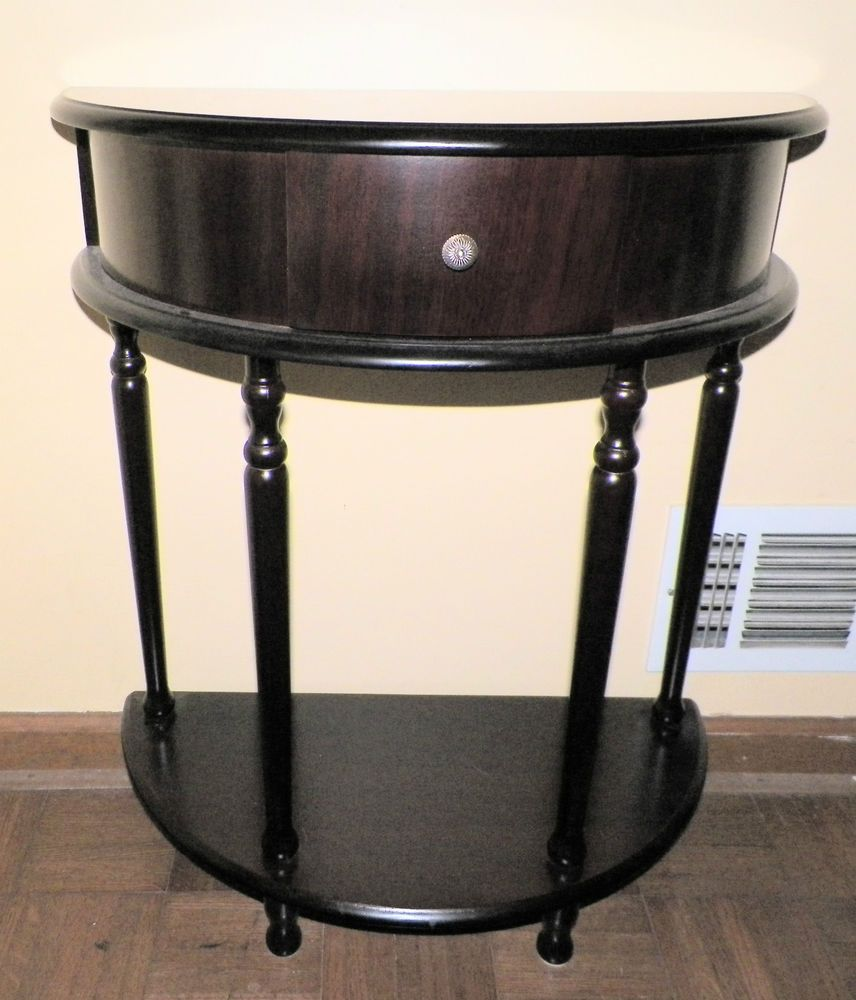 60 Mid Century Modern Vintage Half Moon Coffee Table: NEW DECORATIVE HALF MOON TABLE STAND DRAWER FOYER LIVING