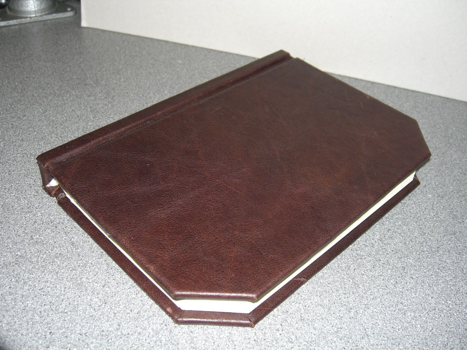 Simple Leather Book Binding Using Power Tools Bsg Edition Book Binding Leather Books Leather Bound Books