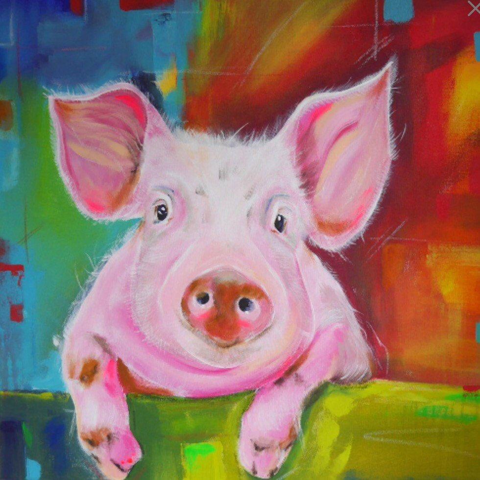 Надписью, прикольные свинки картинки рисованные