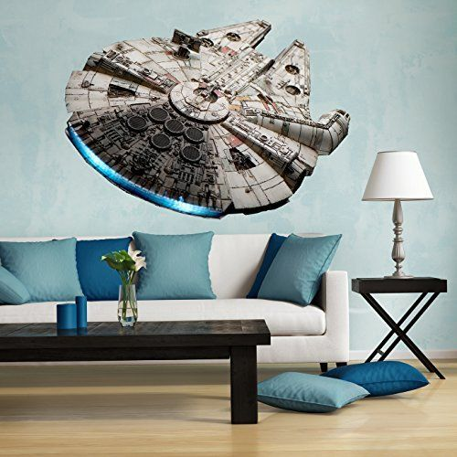 13 Star Wars Wall Decals Turn Your Home Into Your Own Space Station Star Wars Wall Decal Star Wars Bedroom Home Decor