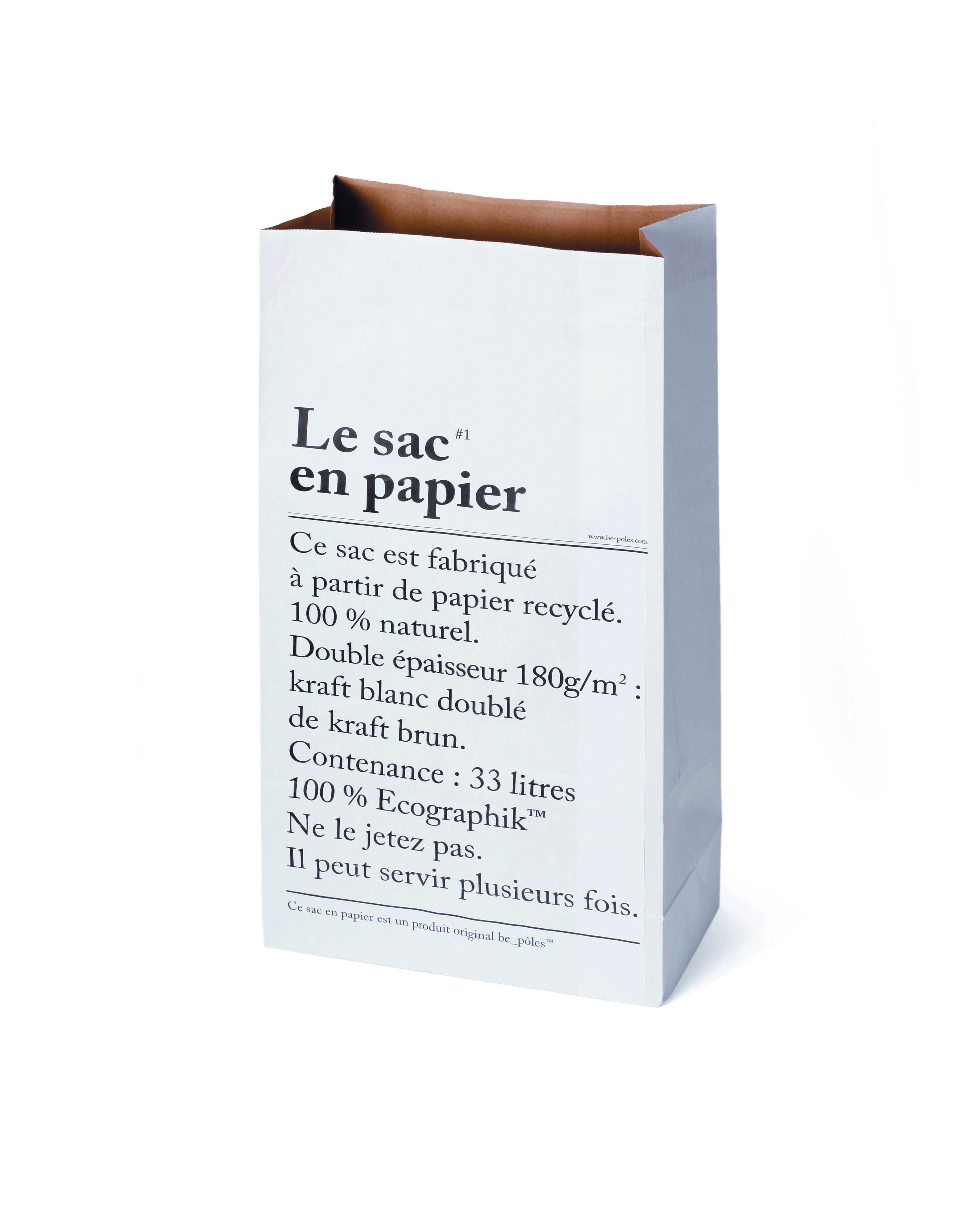 Sac en papier - Be-pôles - 6€