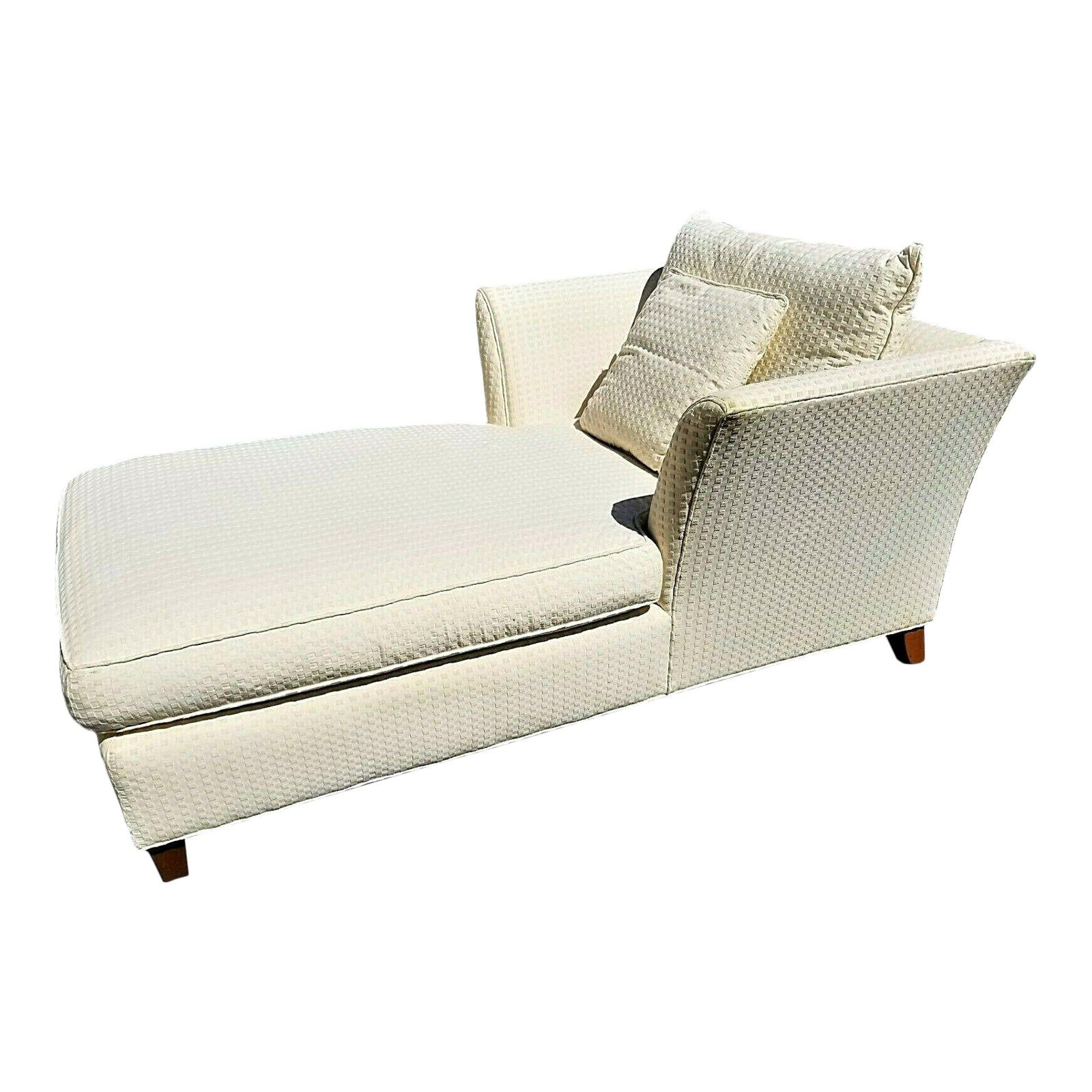 Lexington Home Oversized Beige Ivory Chaise Lounge Chairish In 2020 Lexington Home Lexington Furniture Chaise Lounge