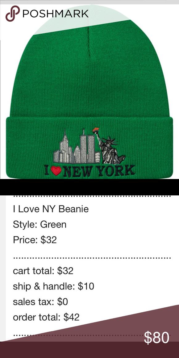 a0f8de56cddd3 Brand new Supreme I love New York Beanie Green Brand new sold out I love  New York supreme beanie with supreme on the back Supreme Accessories Hats