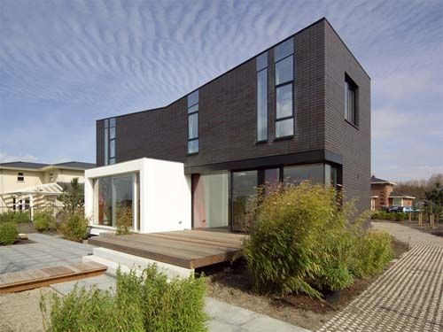 contemporary brick home | brick, clay & concrete pavers design