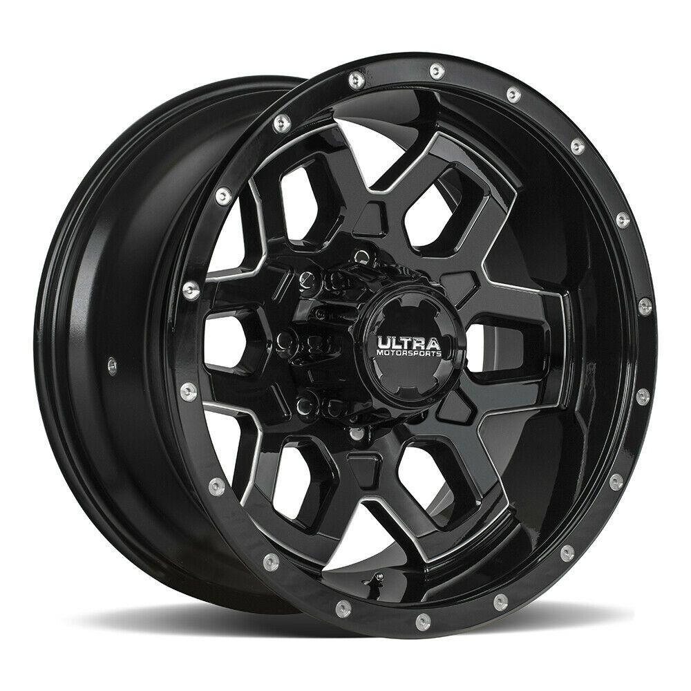 (Advertisement eBay) 4 New 20X10 Ultra 217BM Warlock Black