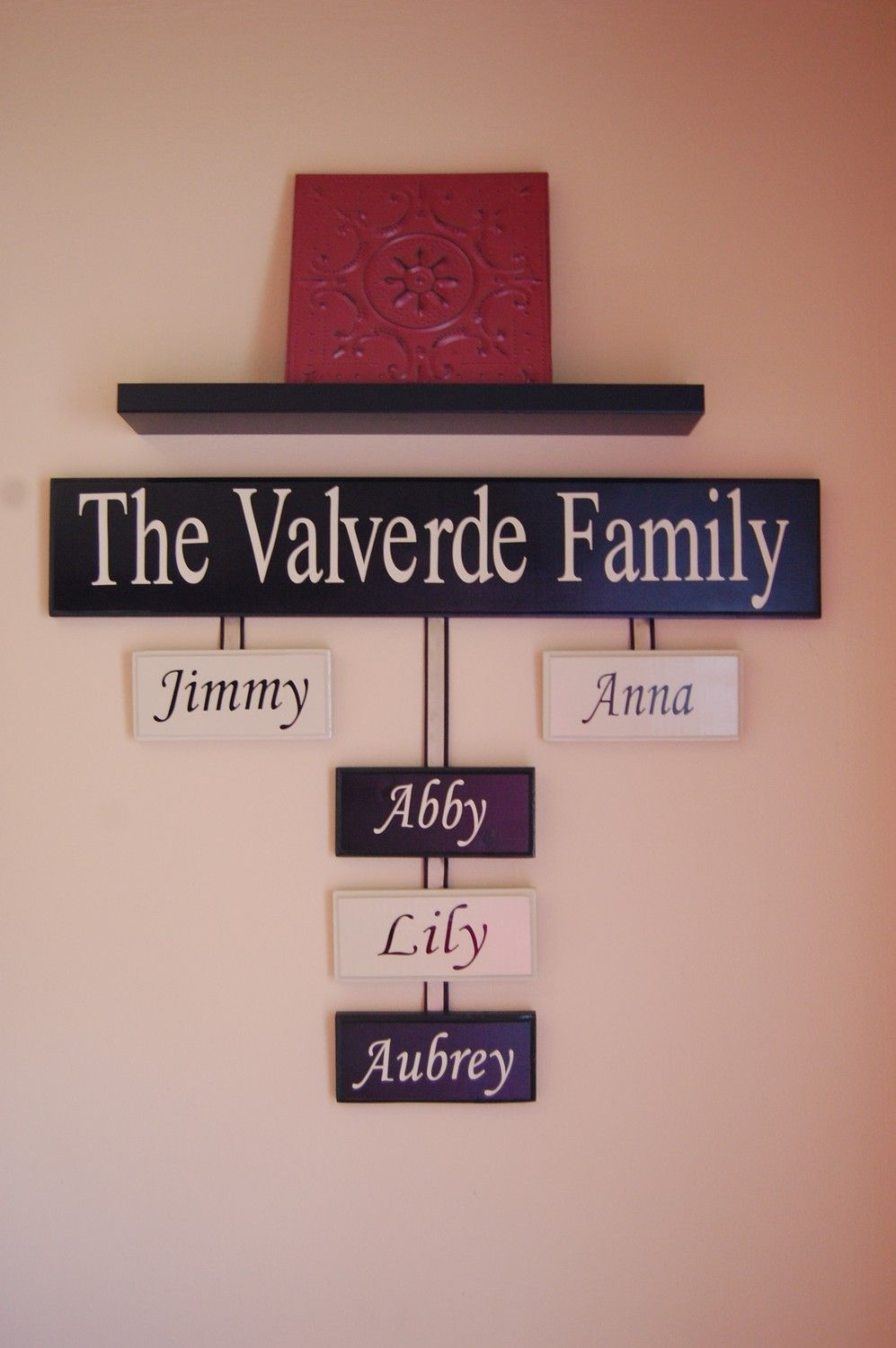 Family Tree Sign Wall Hanging Plaque Vinyl Name 64 99