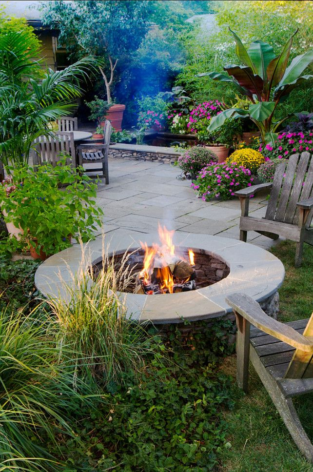 an awesome idea add to your backyard landscape a fire pit on sweet dreams for your home plants decoration precautions and options id=62318