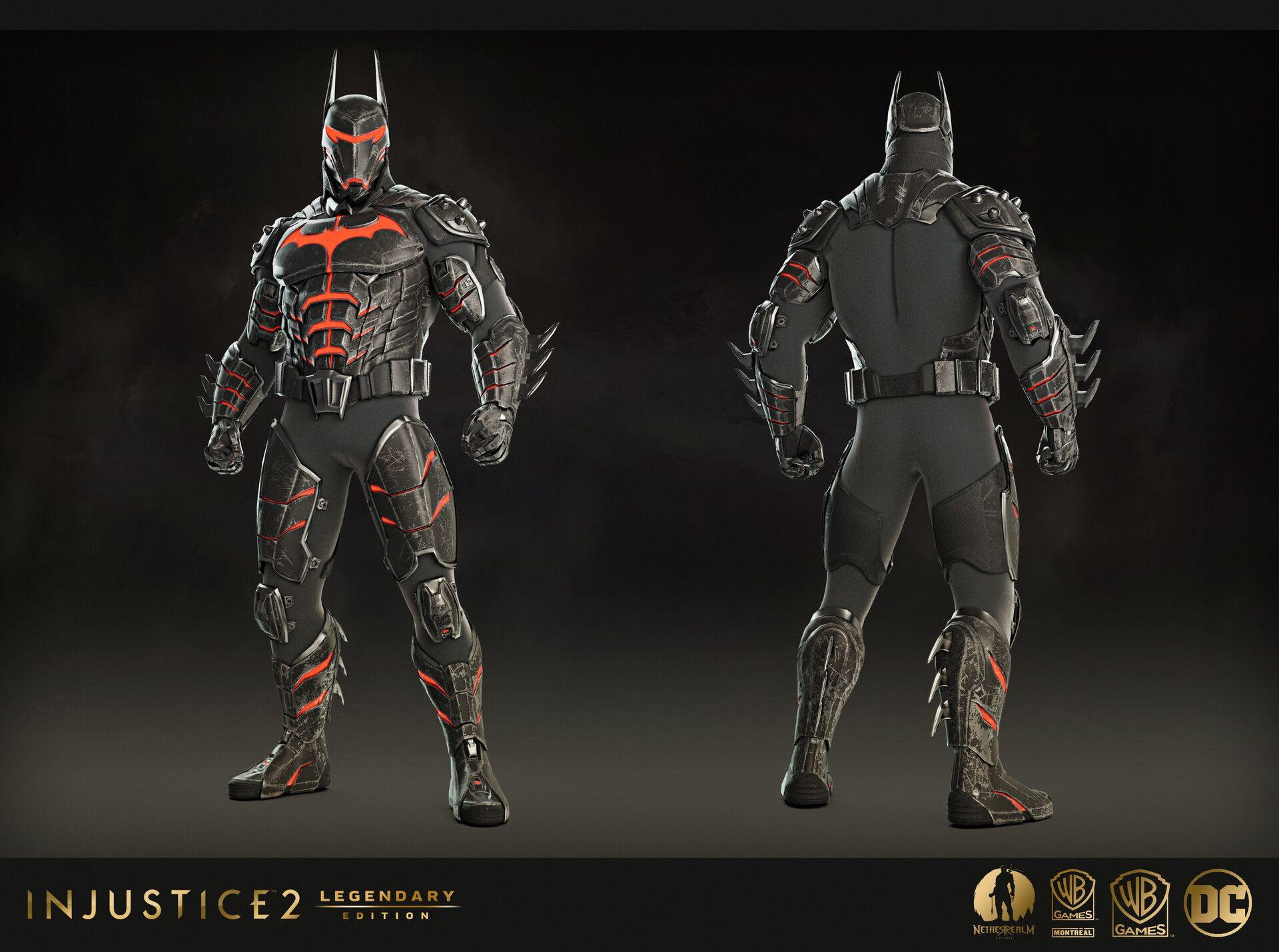 Artstation Batman Epic Gears Injustice 2 Legendary Edition Ludovic Pinard Batman Armor Batman Batman Concept