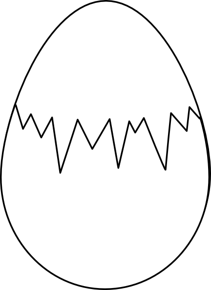 Easter Egg White With Fracture Clip Art Free Vector Clipart Best Egg Coloring Page Free Clip Art Coloring Eggs