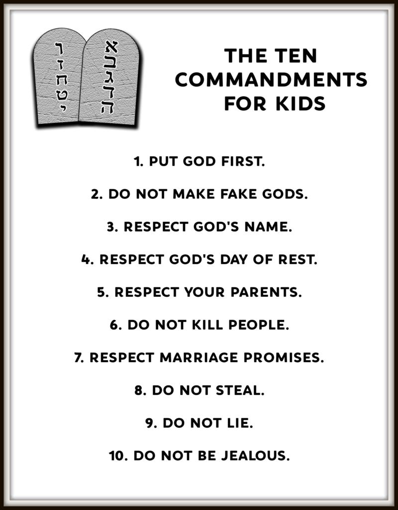 Ten Commandments For Kids Bible Lessons For Kids Sunday School Kids Bible School Crafts