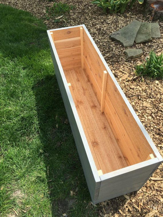cedar planter planter box outdoor storage wood planter outdoor garden box patio box deco. Black Bedroom Furniture Sets. Home Design Ideas