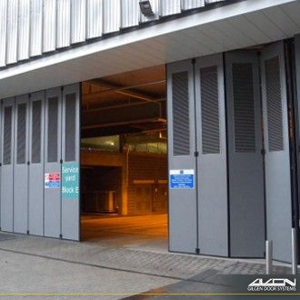 Gilgen Delta Pantograph Folding Shutter Doors - Gilgen Door Systems UK Ltd & Gilgen Delta Pantograph Folding Shutter Doors - Gilgen Door Systems ...