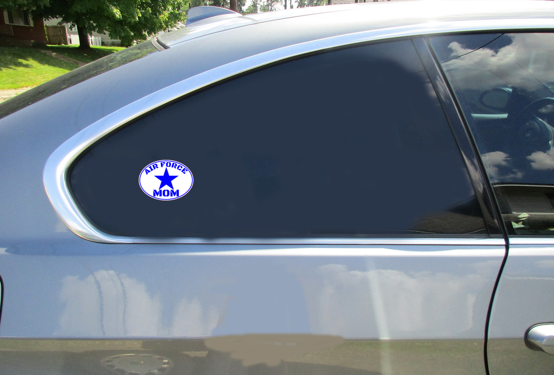 Air force mom oval sticker car sticker u s custom stickers