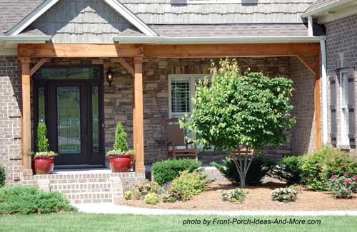 Small porch designs can have massive appeal small front for Rustic porch columns