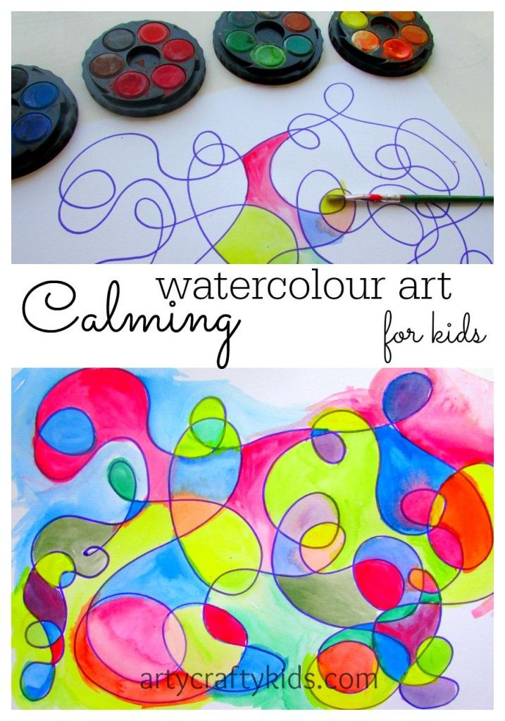 Calming Watercolour Art Art And Craft With Children Kids