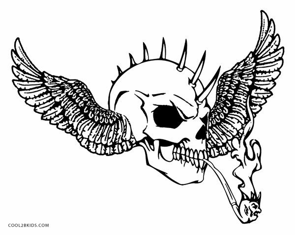Coloring Pages For Adults Of Skulls : Printable skulls coloring pages for kids cool bkids
