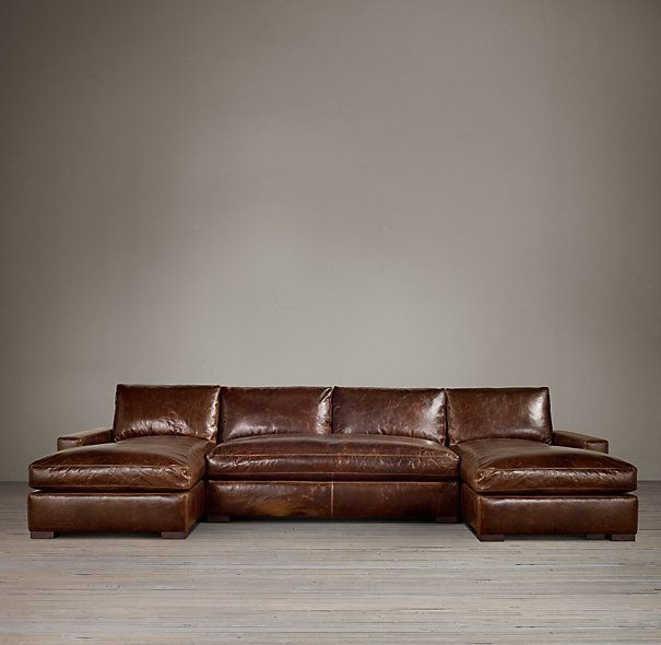 Maxwell Leather U Chaise Sectional Leather Sectional Leather Sectional Sofas Restoration Hardware Sectional