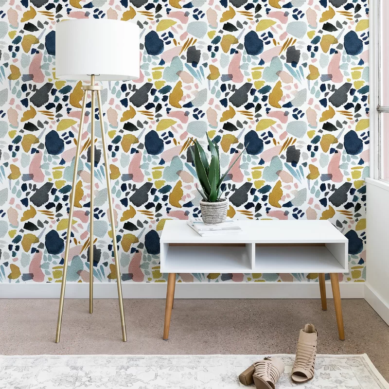 Stephanie Corfee Watercolor Mosaic Smooth Peel And Stick Wallpaper Panel Reviews In 2021 Peel And Stick Wallpaper Wallpaper Panels Home Wallpaper