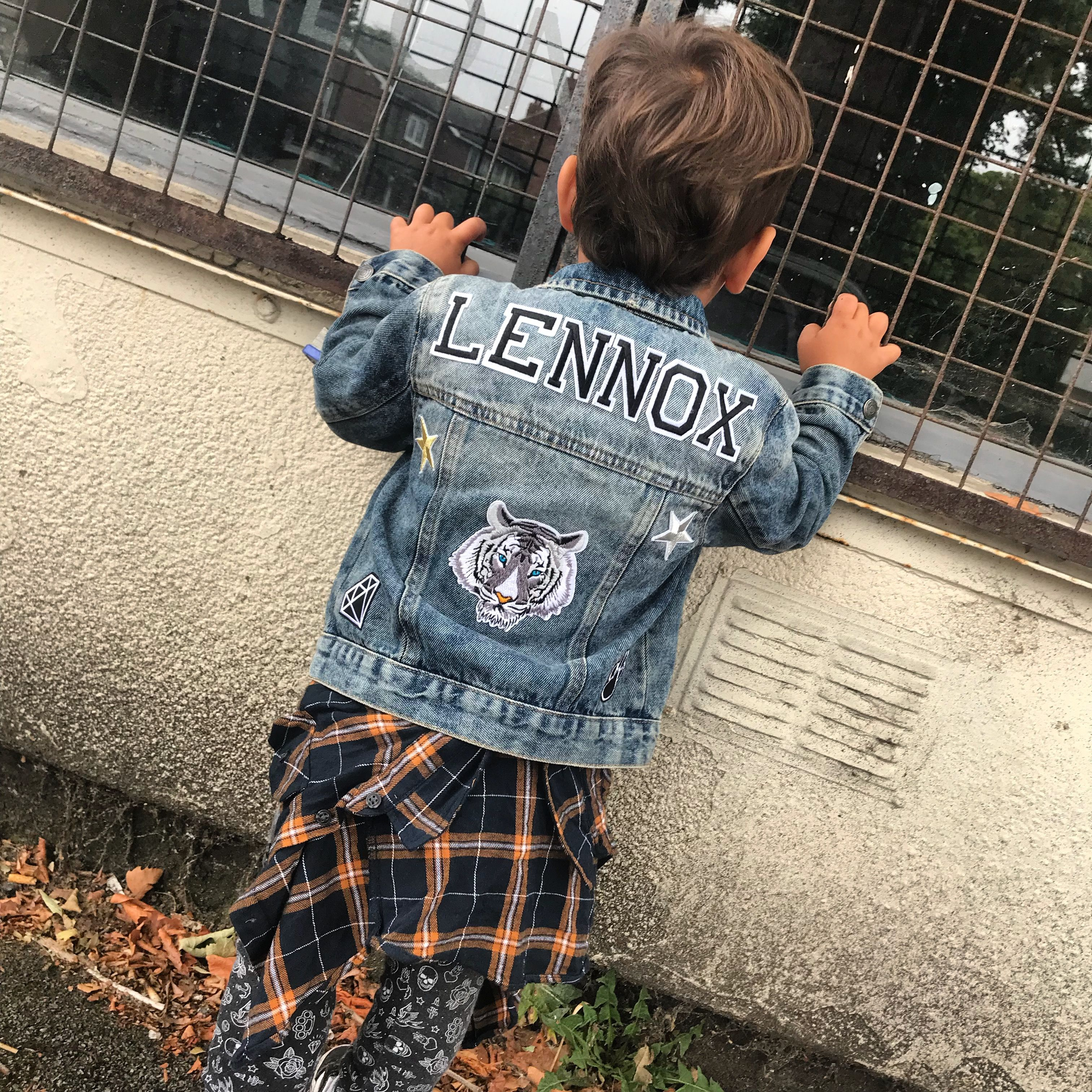 Custom Made Personalised Denim Jackets With Patches Cool Kids Style Fashion Kids Denim Jacket Denim Jacket Patches Diy Denim Jacket [ 3024 x 3024 Pixel ]